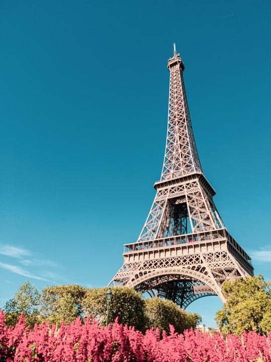 從戰神公園拍攝艾菲爾鐵塔