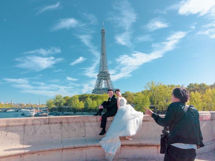 從橋墩拍攝巴黎鐵塔