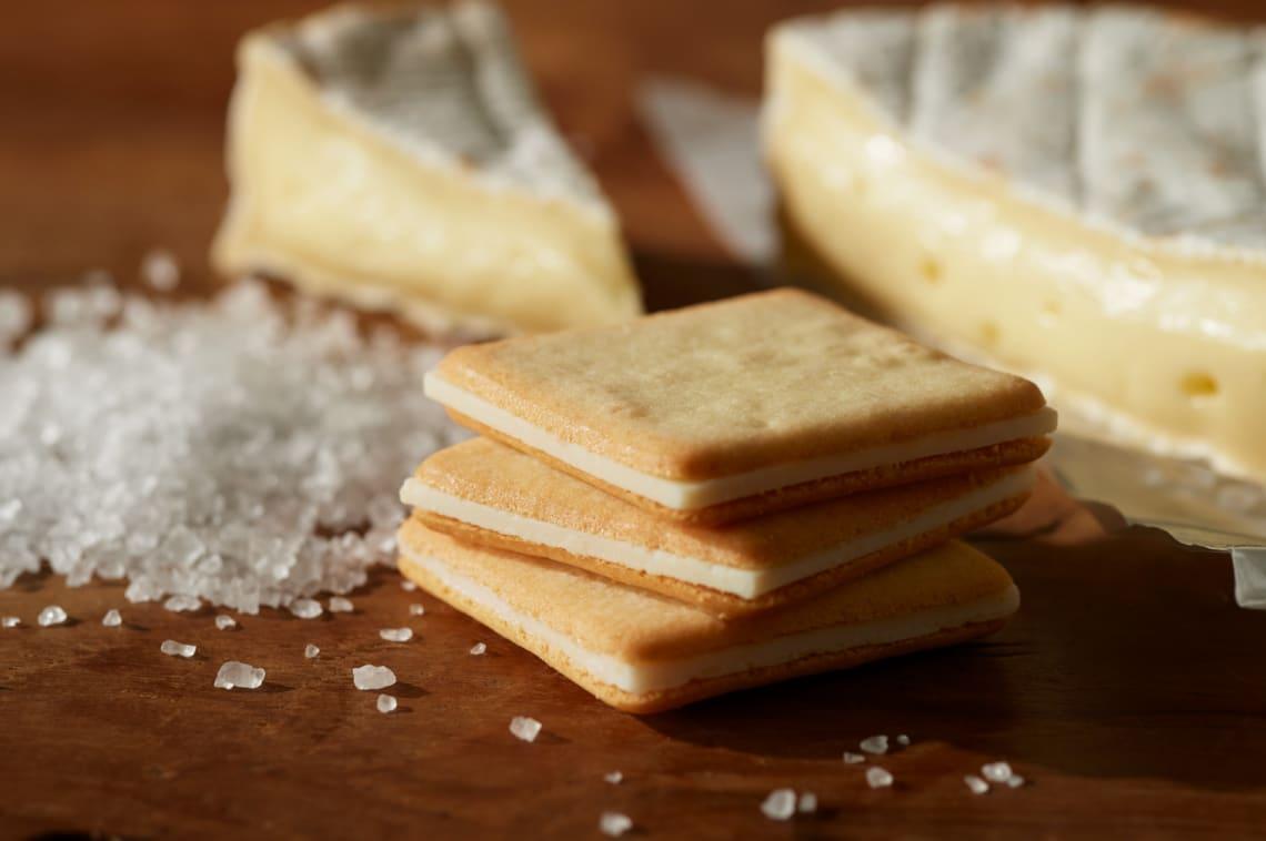 日本必買 加鹽起司味道夾心餅乾