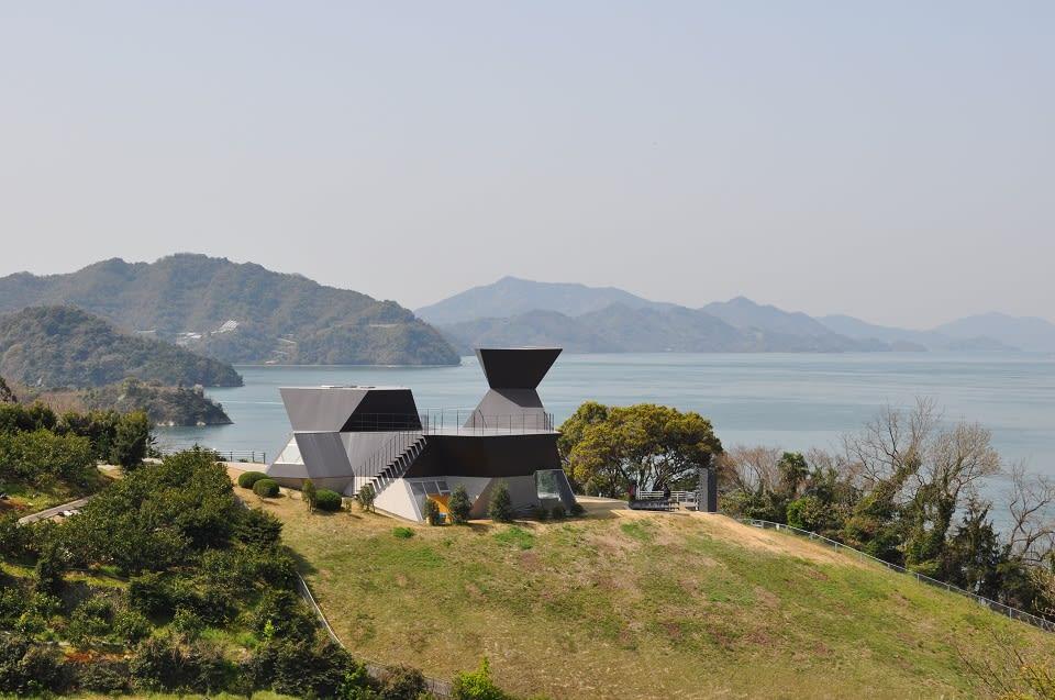 瀨戶內海群島眾多,這是大三島上的伊東豐雄建築博物館。
