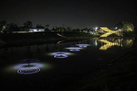 月津港燈節 水上燈飾