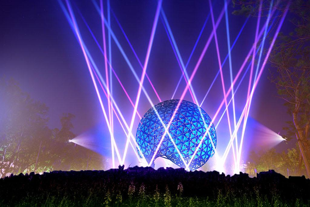 台灣燈會 白晝心在 台中燈會 發射光束