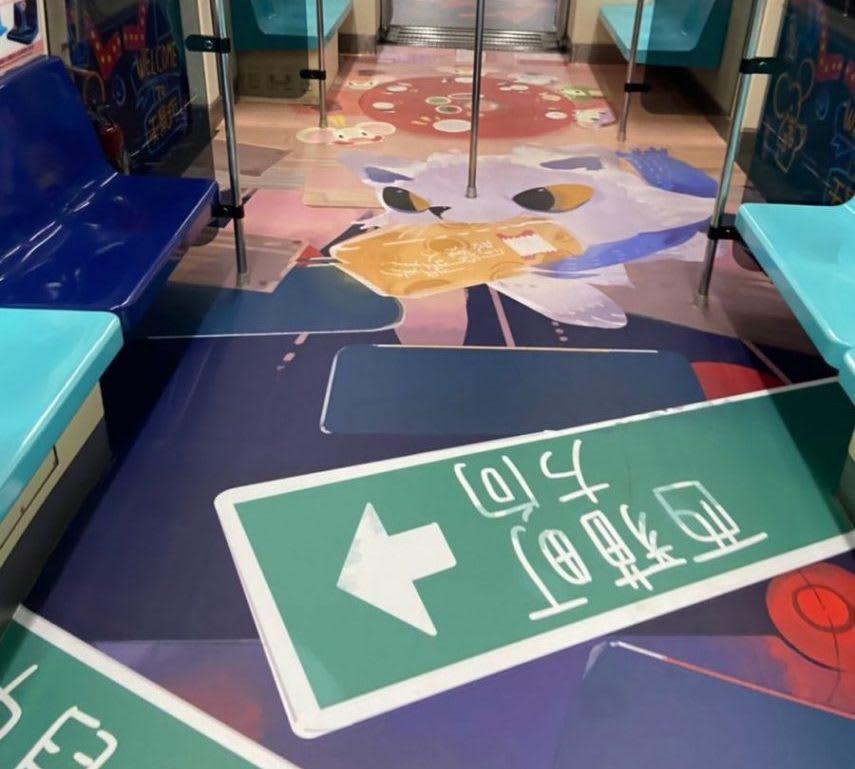 台北燈節 彩繪列車圖案