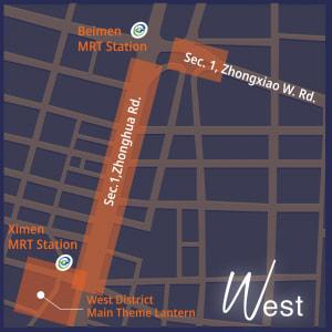 台北燈節 西門展區地圖