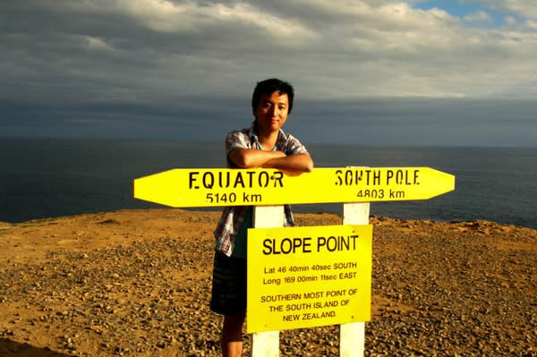 紐 西 蘭 南 島 的 最 南 端 Slope Point。
