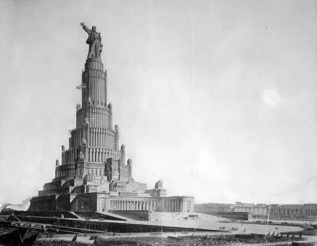 蘇 維 埃 宮 的 原 始 圖。