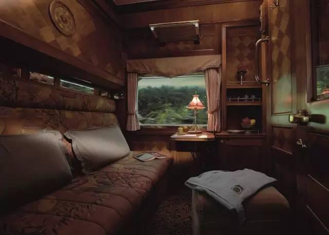 列車上豪華內裝。