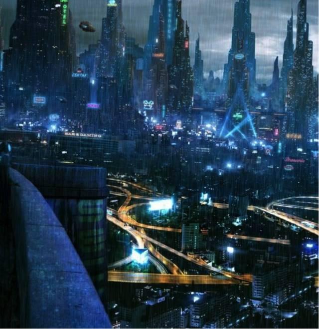 藝 術 家 Akimov Mikhail 對 未 來 城 市 的 想 像 作 品 : Sector 8. Upper level。