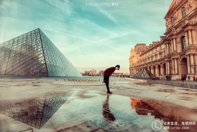 法 國 羅 浮 宮 。