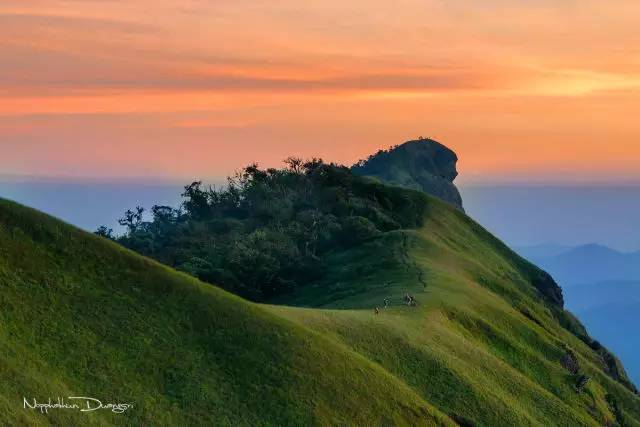 零 開 發 的 處 女 地 ,不 見 觀 光 客 , 只 見 夕 陽 與 綠 蔭 青 蔥