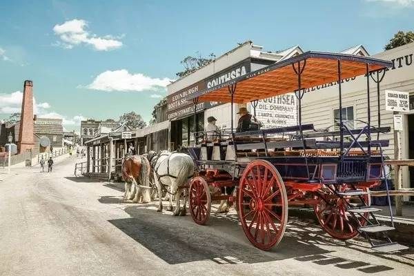 墨爾本的淘金小鎮。