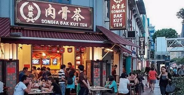 新 加 坡 龍 頭 肉 骨 茶 連 鎖 店 一星巷弄小吃