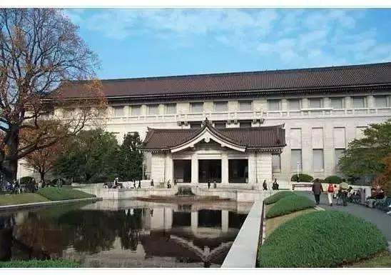 有著日式建築外觀的東京國立博物館。