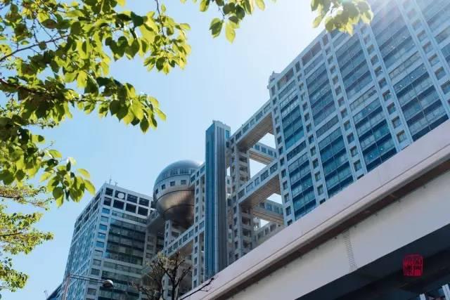 富士電視臺本社大樓。