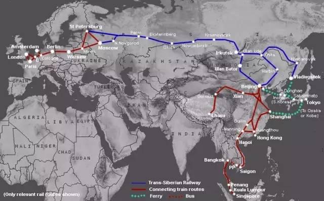 跨西伯利亞快車路線。