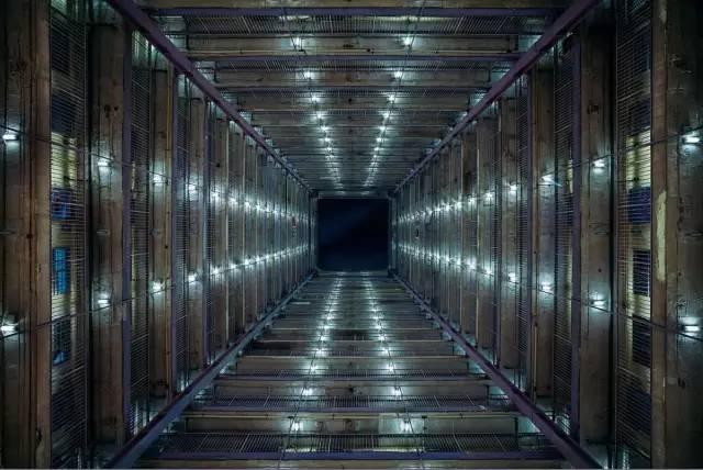 整 齊 排 列 的 兩 盞 燈 , 點 亮 了 平 淡 無 奇 的 擁 擠《Cyberport》