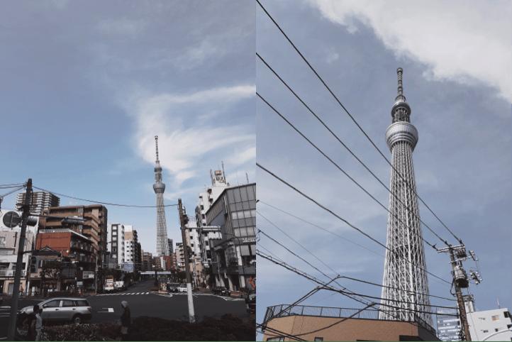 從 不 同 角 度 欣 賞 晴 空 塔 , 別 有 一 般 風 味