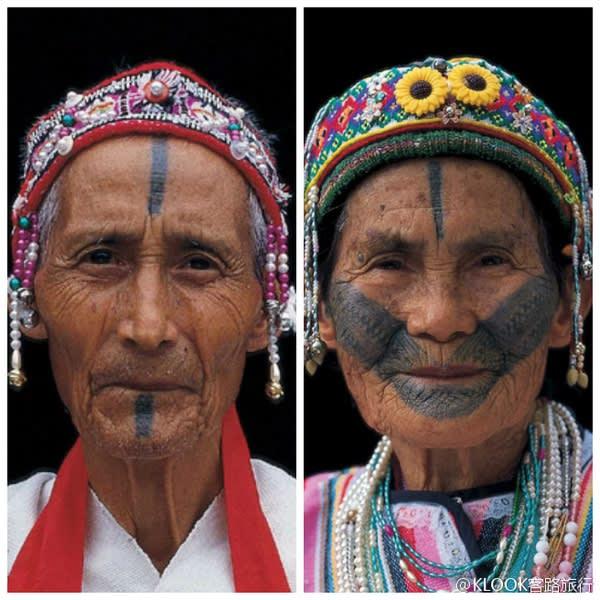 泰雅族紋面。