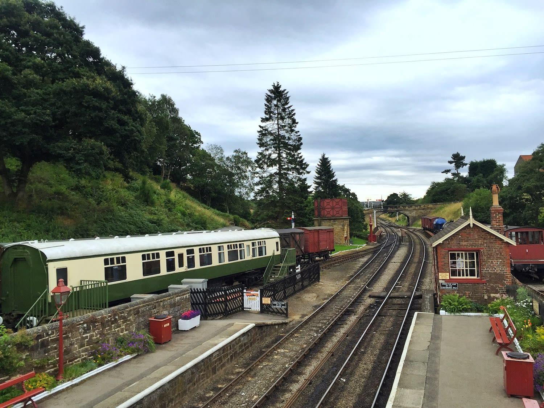 高斯蘭車站(Goathland station)是電影⟪哈利波特⟫中「活米村(Hogsmeade)」的拍攝場景。