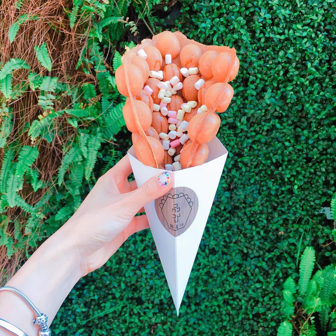 「品品雞蛋仔」是最近IG上非常火紅的人氣美食。(圖片來源/Instagram-alena.lina)