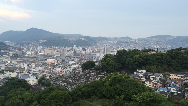 黃昏時,遠眺長崎市景