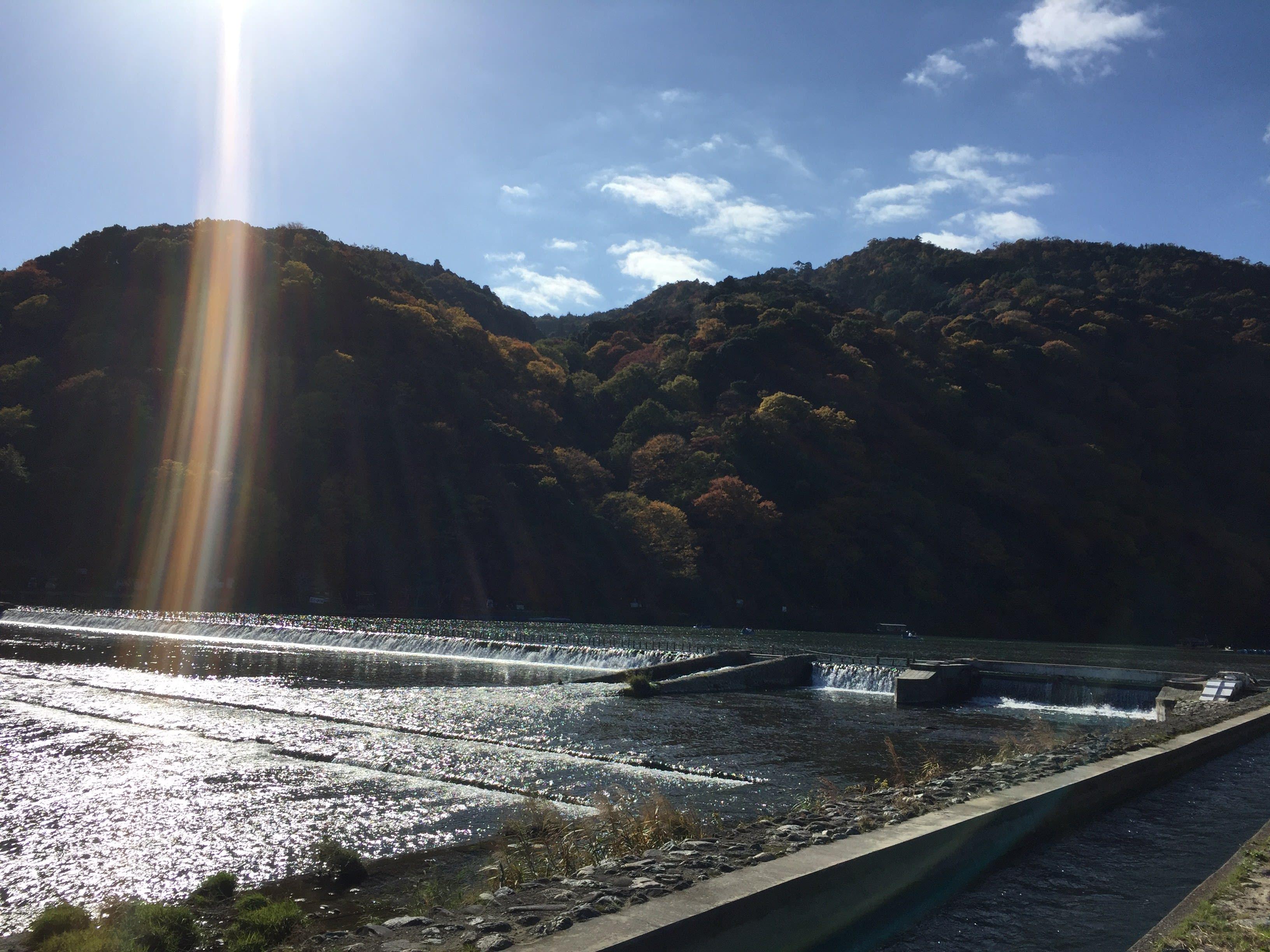 嵐 山 渡 月 橋 。