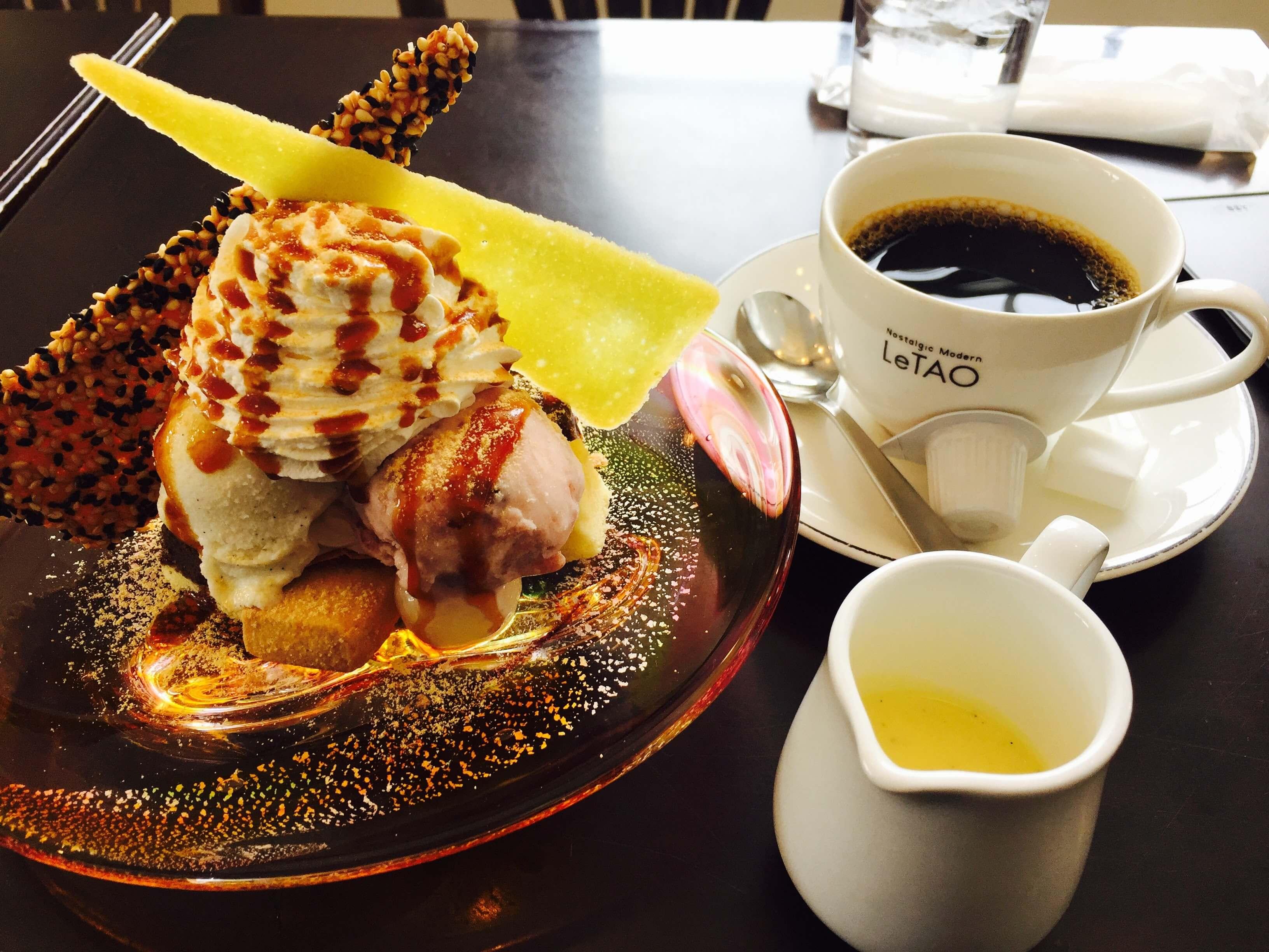 LeTAO 冰 淇 淋 套 餐, 但 還 是 比 較 推 薦 吃 這 裡 的 起 司 蛋 糕 !