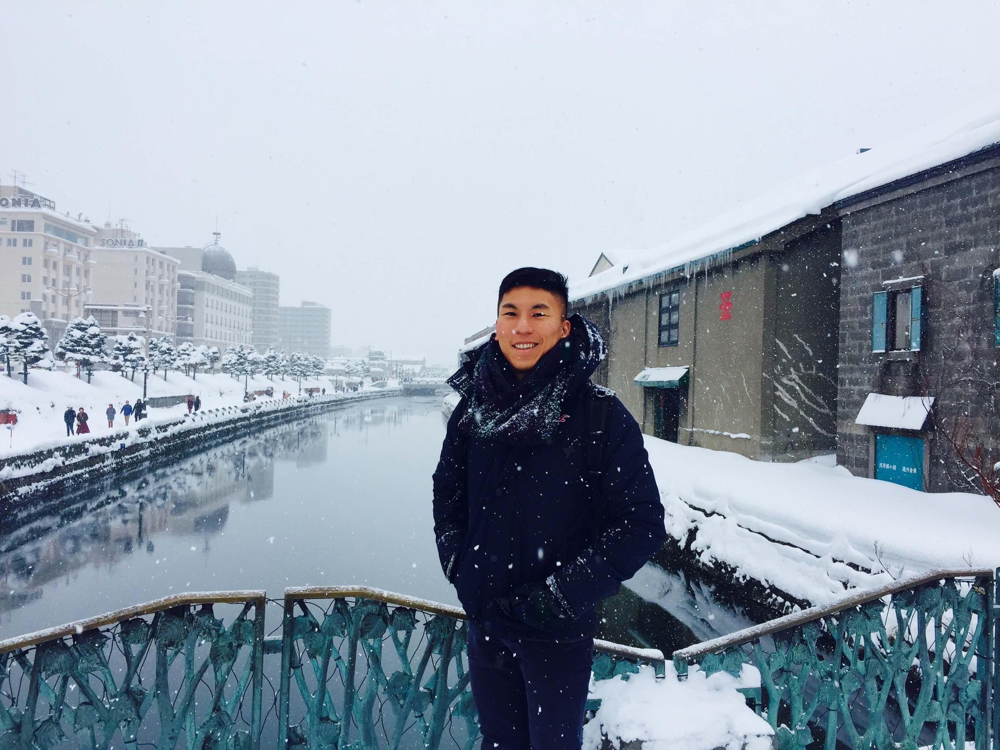 結 凍 的 小 樽 運 河 也 無 法 搭 船 遊 覽