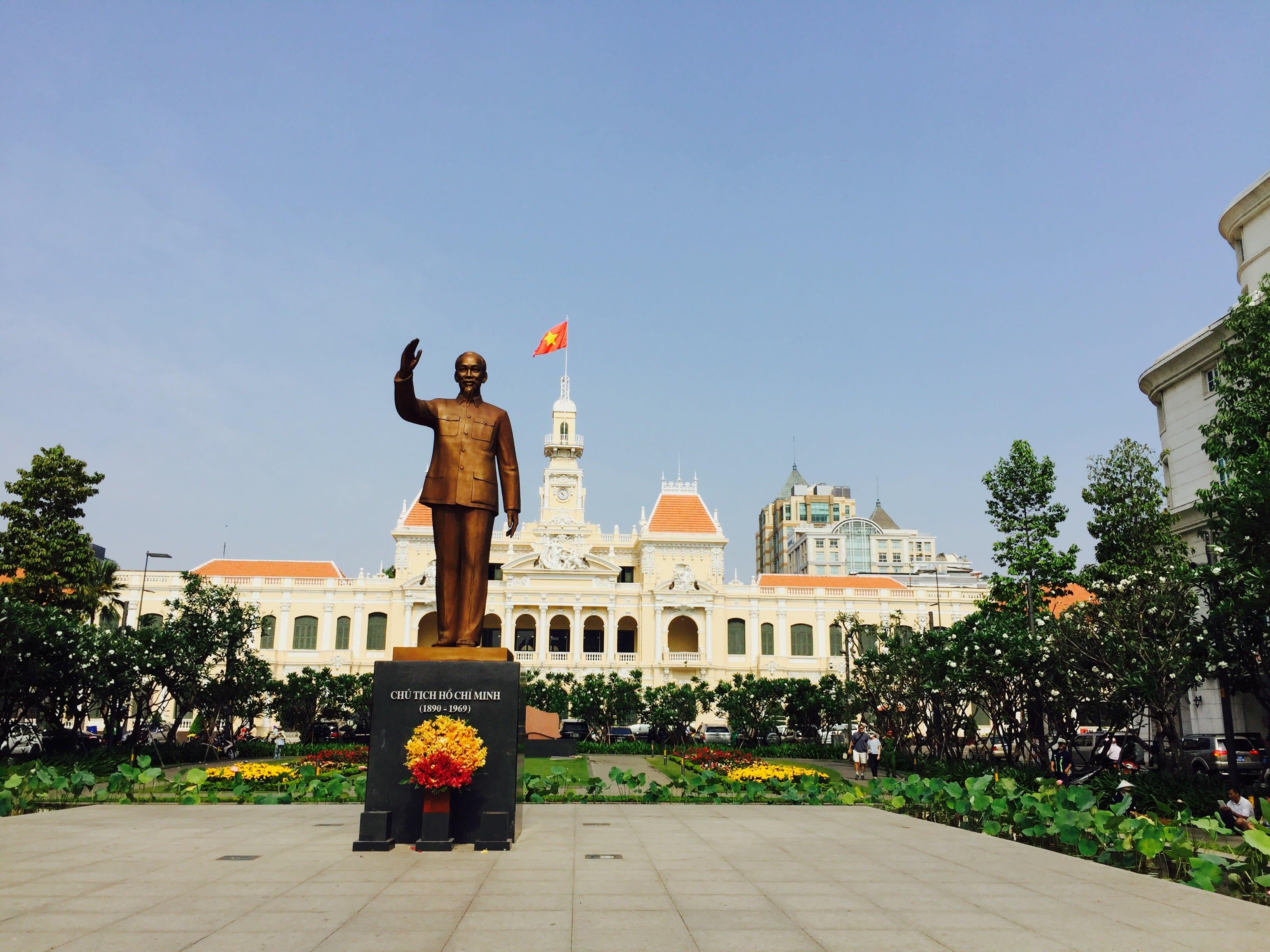 胡志明的中心地標 : 胡志明市人民委員會大廳