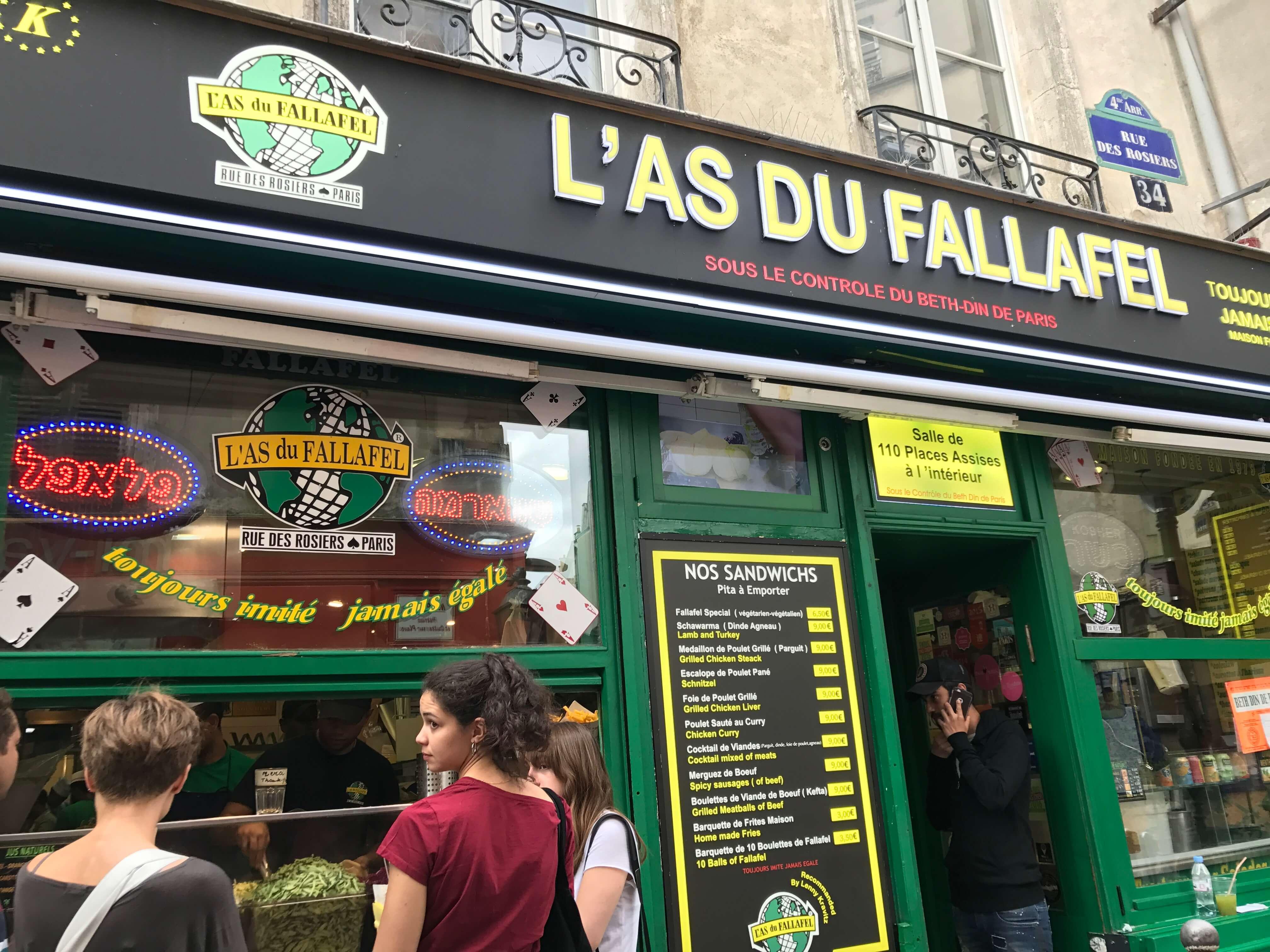 法國巴黎餐廳—L'as du Fallafel 外觀 photo by 倍包客