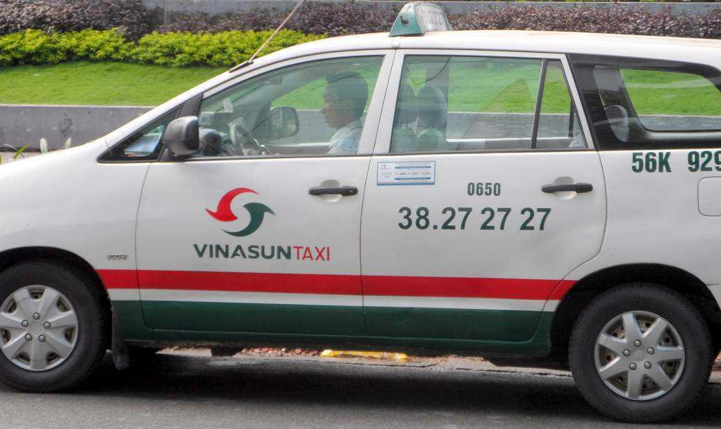 胡志明市交通 : 白色計程車 Vinasun