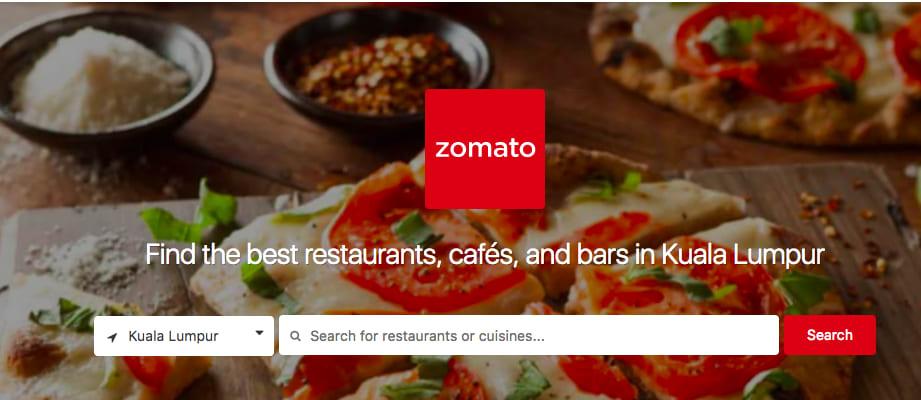 馬來實用App : Zomato