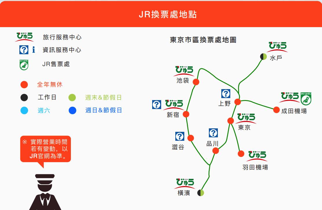 jr pass 東日本兌換地點
