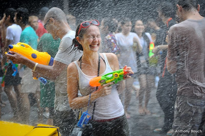 The Songkran festival in Bangkok.