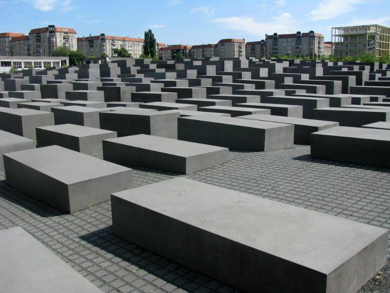 歐 洲 被 害 猶 太 人 紀 念 碑 。