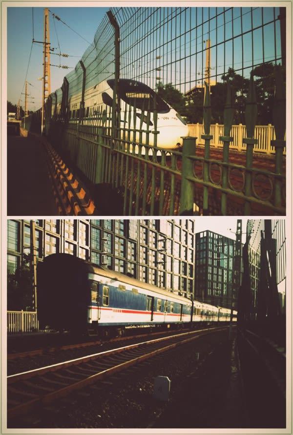火 車 道 。
