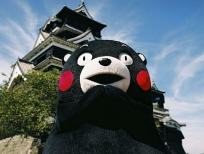 日 本 人 氣 吉 祥 物 熊 本 熊 。