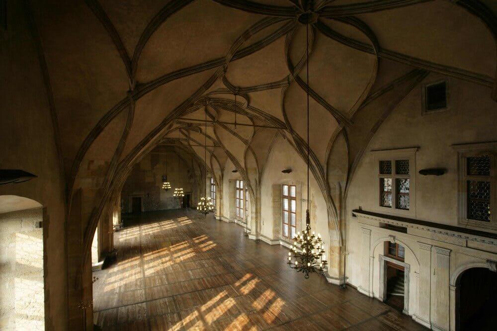 舊城堡內的維拉提斯拉夫大廳。(照片來源:布拉格城堡官網)