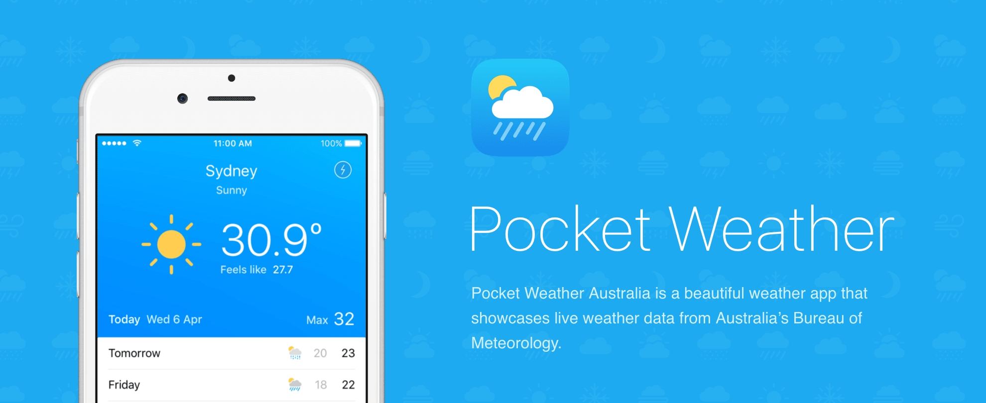 澳洲實用App : Pocket Weather