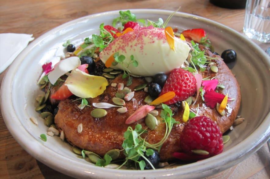 墨爾本咖啡店精選 : Blueberry & Ricotta hotcakes