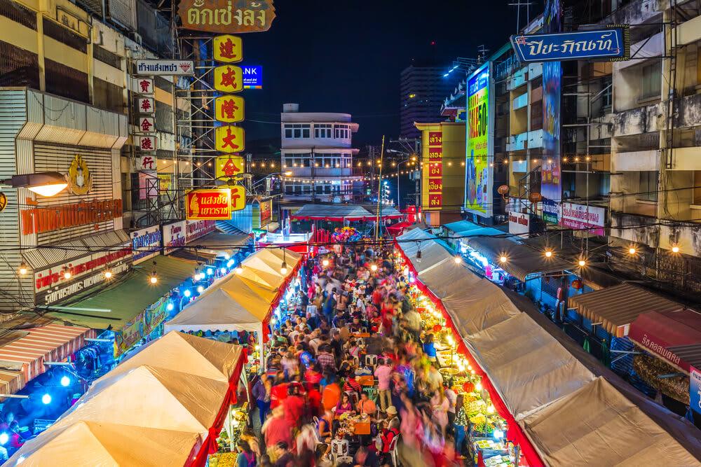 清 邁 中 國 城 內 的 Warorot 夜 市