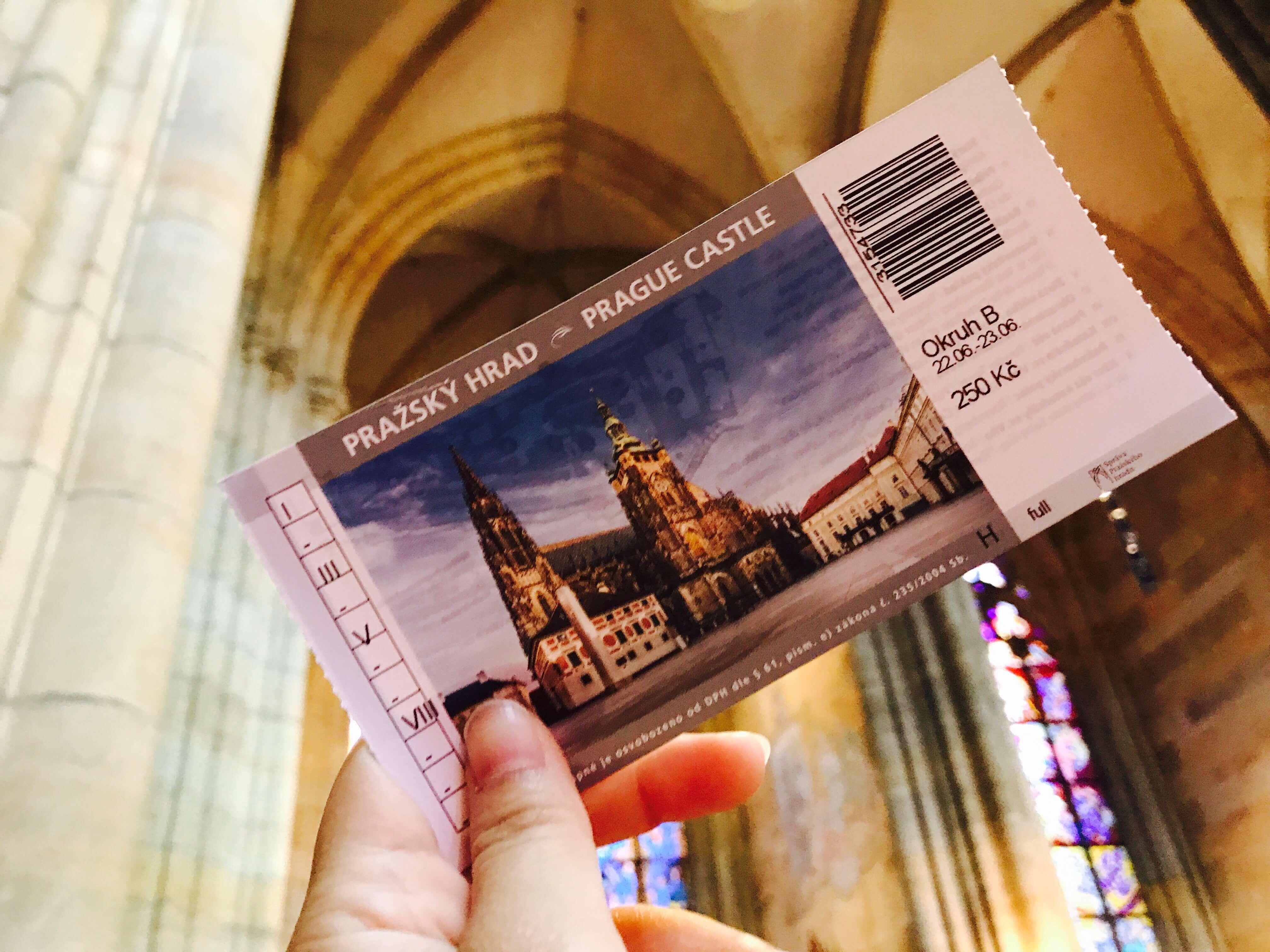 門票上印有聖維特大教堂超值得紀念!Photographer / Penny