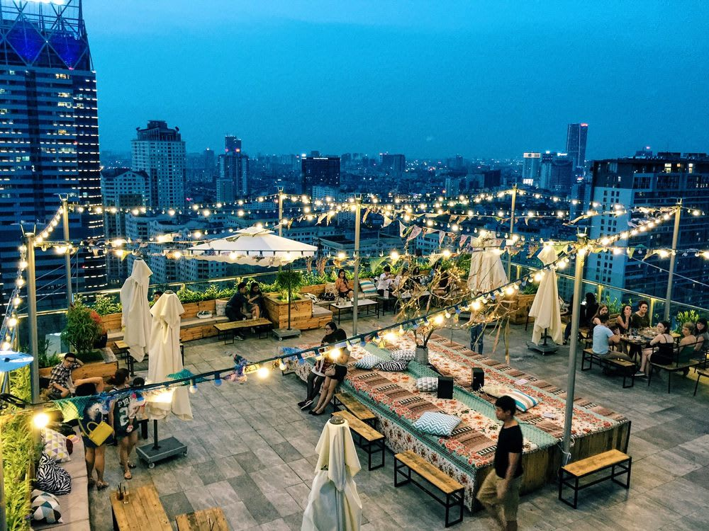 河內景點 : Trill Rooftop Cafe