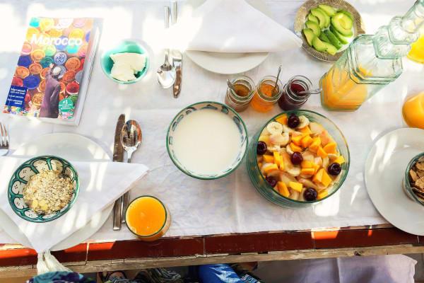 豐 盛 摩 洛 哥 早 餐 。