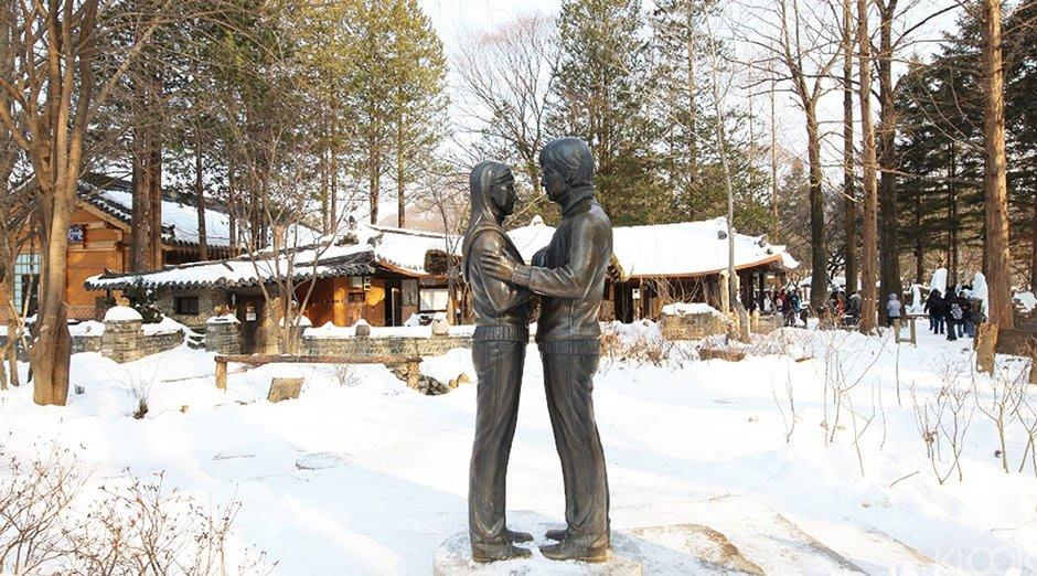 tượng nhân vật trong phim bản tình ca mùa đông