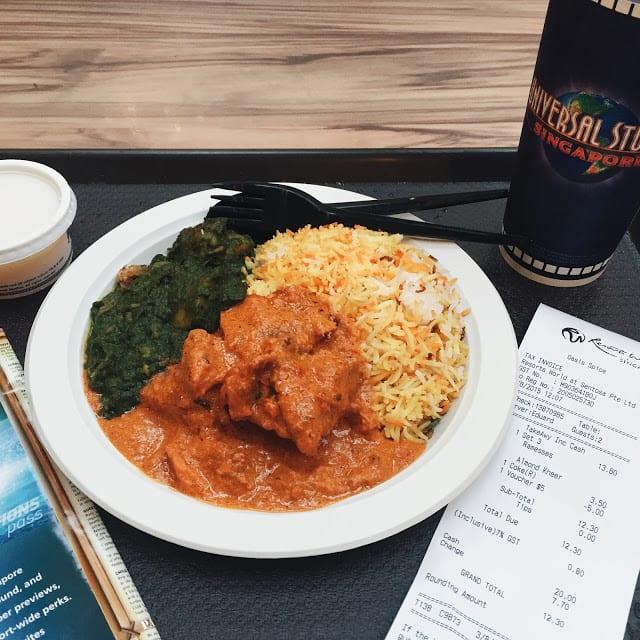 cơm cà ri tại universal studios singapore