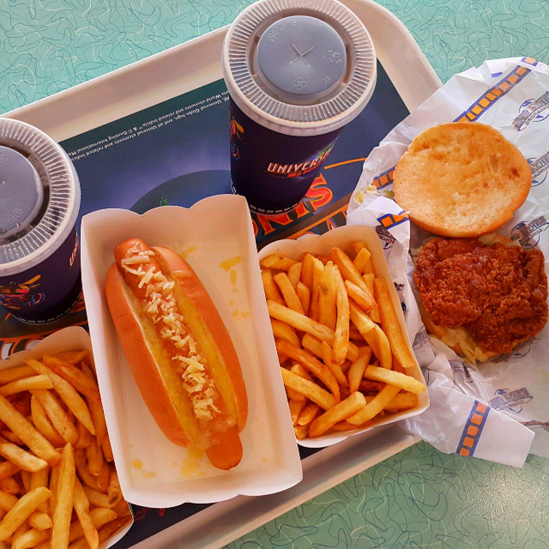 thức ăn nhanh tại universal studios singapore