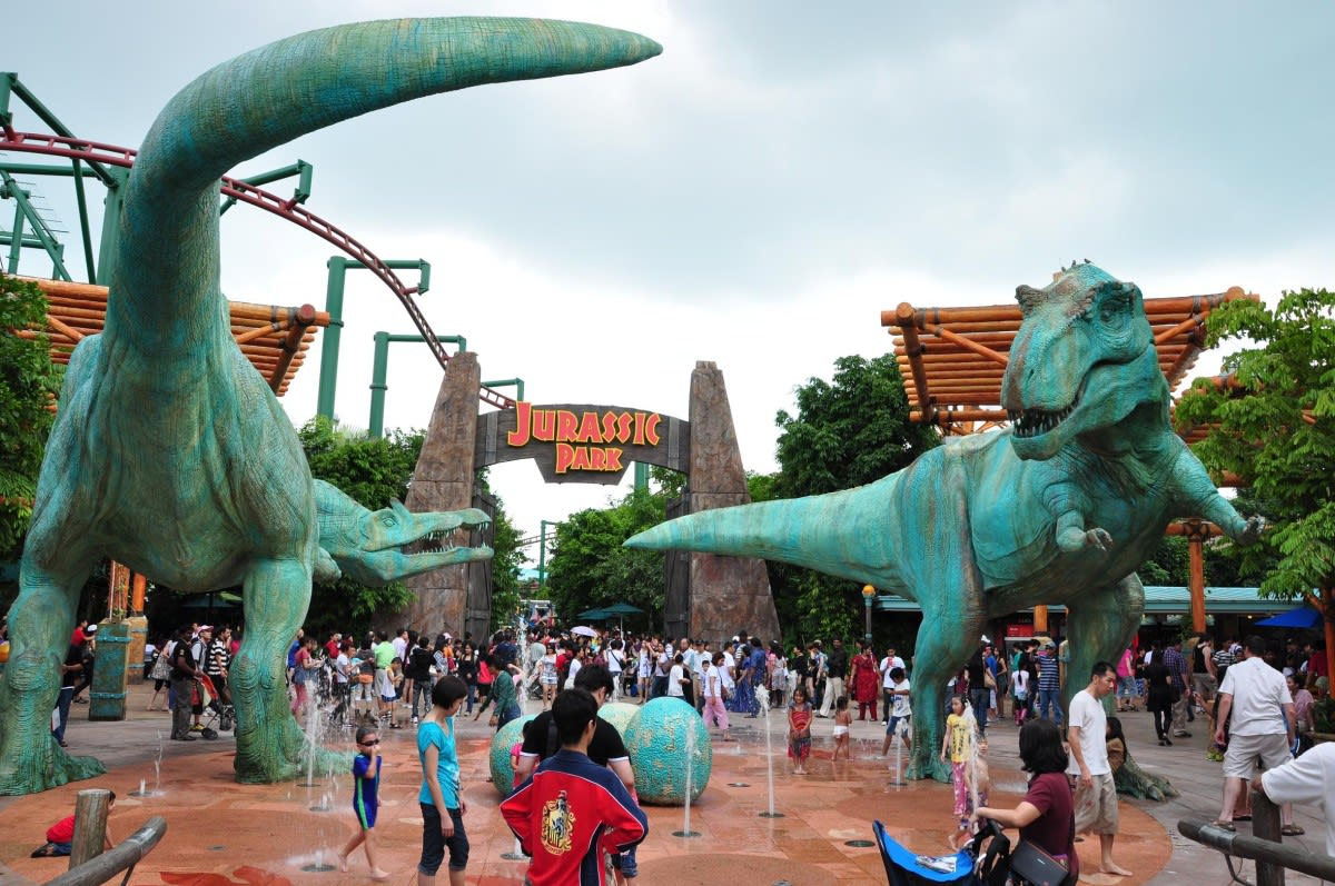 khu the lost world tại universal studios singapore