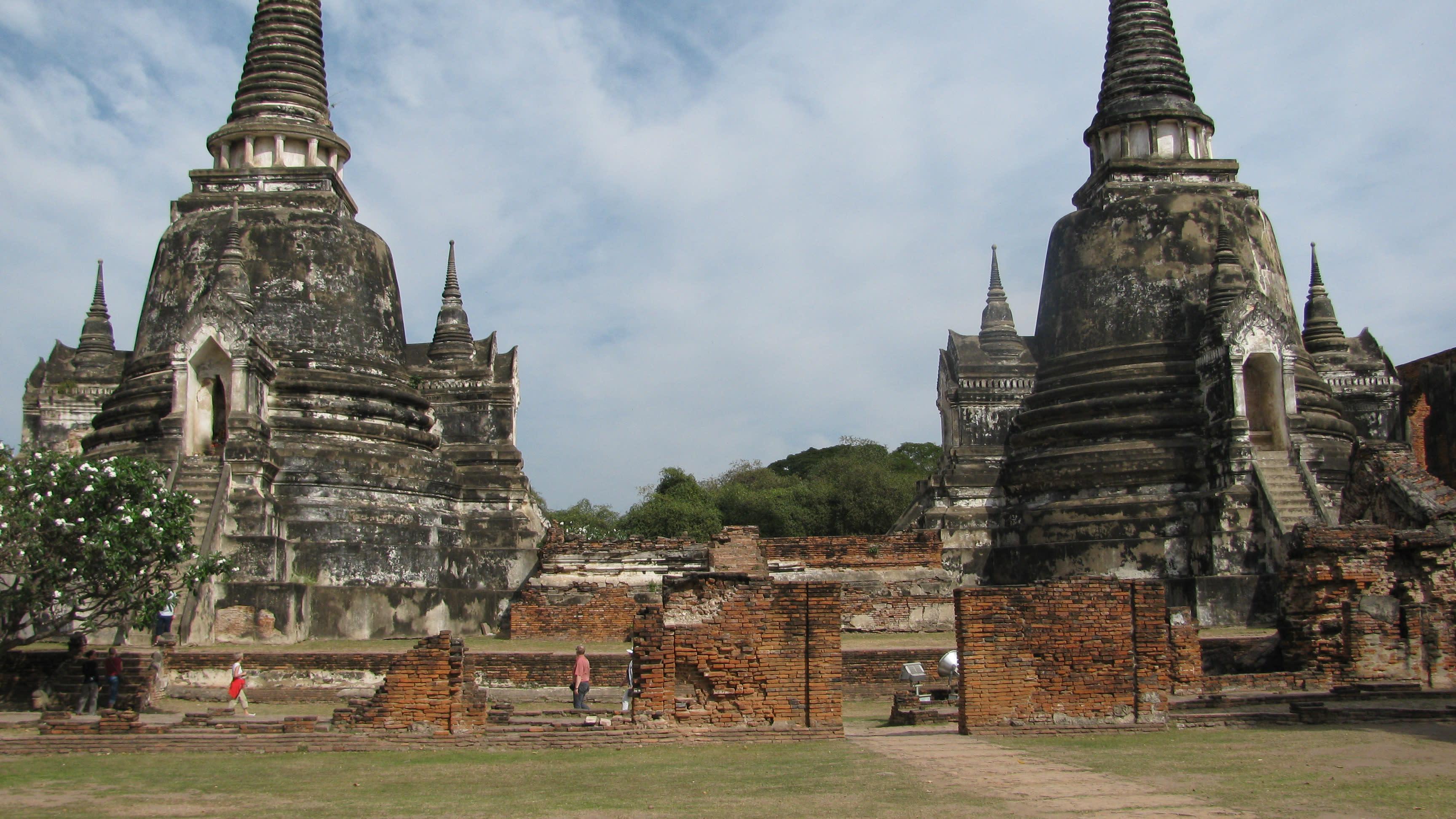phố cổ ayutthaya tại thái lan