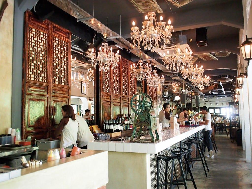 quán cafe ở singapore: coastal settlement